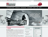 UI for re-design of website for engineering firm