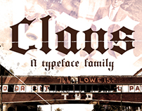 Clans typeface