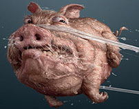 Saky Dental Floss Rod: PIG