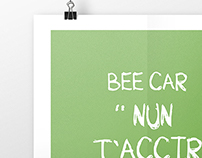 Lezioni d Bee-advertising poster for carsharing service