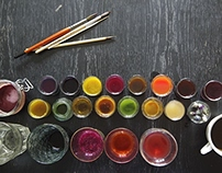 DIY natural watercolours