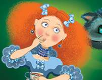"Illustration for corporate party ""Alice in Wonderland"""