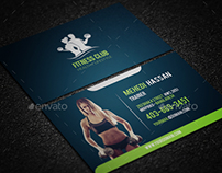 Fitness Club Business Card