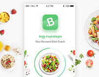 Body Food Weight - Mobile Application design
