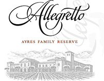 Allegretto Wine Labels illustrated by Steven Noble