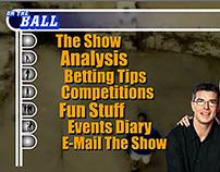 Animated Flash menu for ITV football