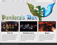 Pandora's Box music band's site redesign