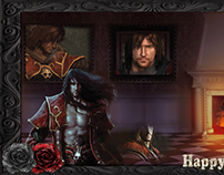 Castlevania-Lord of Shadow inspired Halloween banner