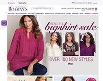 Roamans.com - Homepage Designs