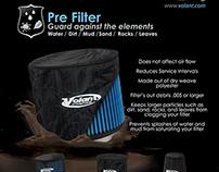 Volant Pre-Filter Design