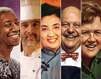 Celebrity Chefs Stamps