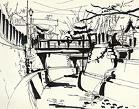 Sketching in Japan