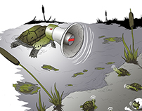 """River Turtles"" Spot Illustration"