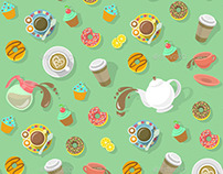 Coffee and Tea Pattern
