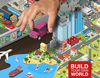 Isometric flat world collection