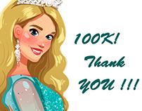 100K Doodle for Princess Diana