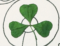 With a clover