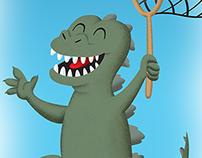 Godzilla, age 5