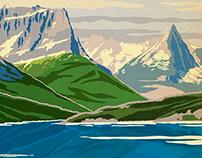 """FITS Socks National Parks - """"Glacier"""""""