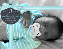 Gifted Wrapped Birth Announcements