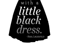 Typography Poster - Little Black Dress