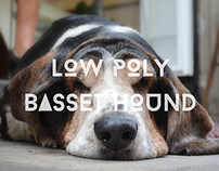 Low-Poly basset hound