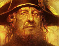 Face of a Caribbean pirate : Captain Hector Barbossa .