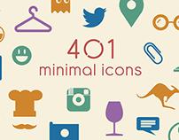 401 minimal icons