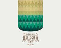 Cartel Bodegas Terras Gauda (Galicia, España)