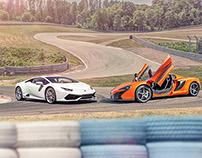 Lamborghini Huracan vs McLaren 650s