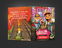 Subway Surfer Themed Wedding Cards