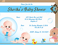 Baby Shower Invitation 4.5x6.5