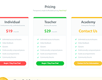 Music Learning Pricing Page