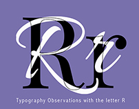 TYPOGRAPHY // Observations of Rr