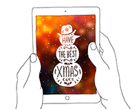 Christmas illustrations with lettering