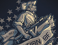 Minuteman Illustration