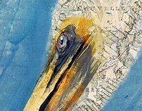 "Pelican on Nautical Chart ""Throne"""