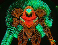 Neon Samus Light Art