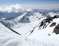 The Grand Couloir of the Remarkables.