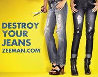 Zeeman - Destroy your Jeans