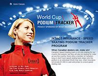 Speed Skating Podium Tracker