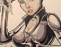 Catwoman Copic Color Practice