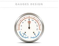Gauges Illustration Design