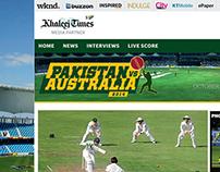 Khaleej Times - Pakistan Vs Australia 2014