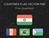 Countries Flags Vector PSD FREE DOWNLOAD