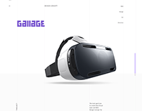 Gallage Website VR concept
