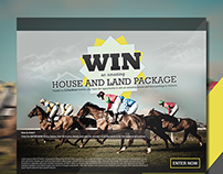 Horse racing competition banner design