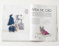 Vida de cão: editorial Revista Living