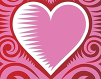 2014 Love Stamp : Cut Paper Heart for the USPS
