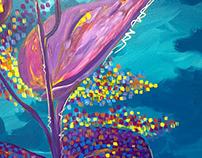 Healing Painting Series 3 (Dahon ng Kamote)